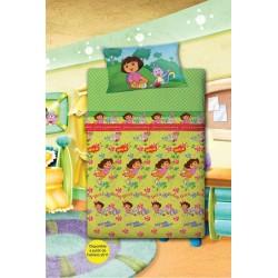 Dora Exploradora juego de sábanas 90 cms.